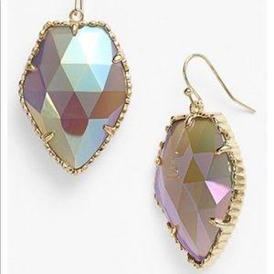 Kendra Scott Corley Earrings   Iridescent Agate